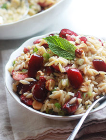 Cherry Hazelnut Orzo Salad