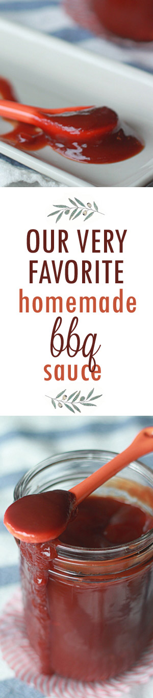 Our Very Favorite Homemade BBQ Sauce recipe - Super easy, nice and tangy, and with just the slightest touch of heat, this has been our go-to homemade barbecue sauce for years. Got 20 minutes? Make some!