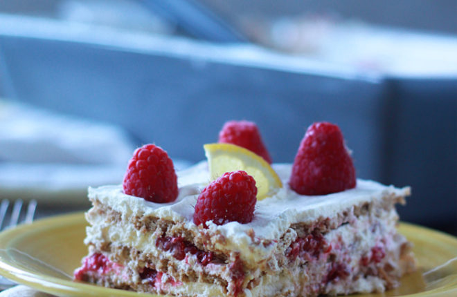 Raspberry Lemon Icebox Cake