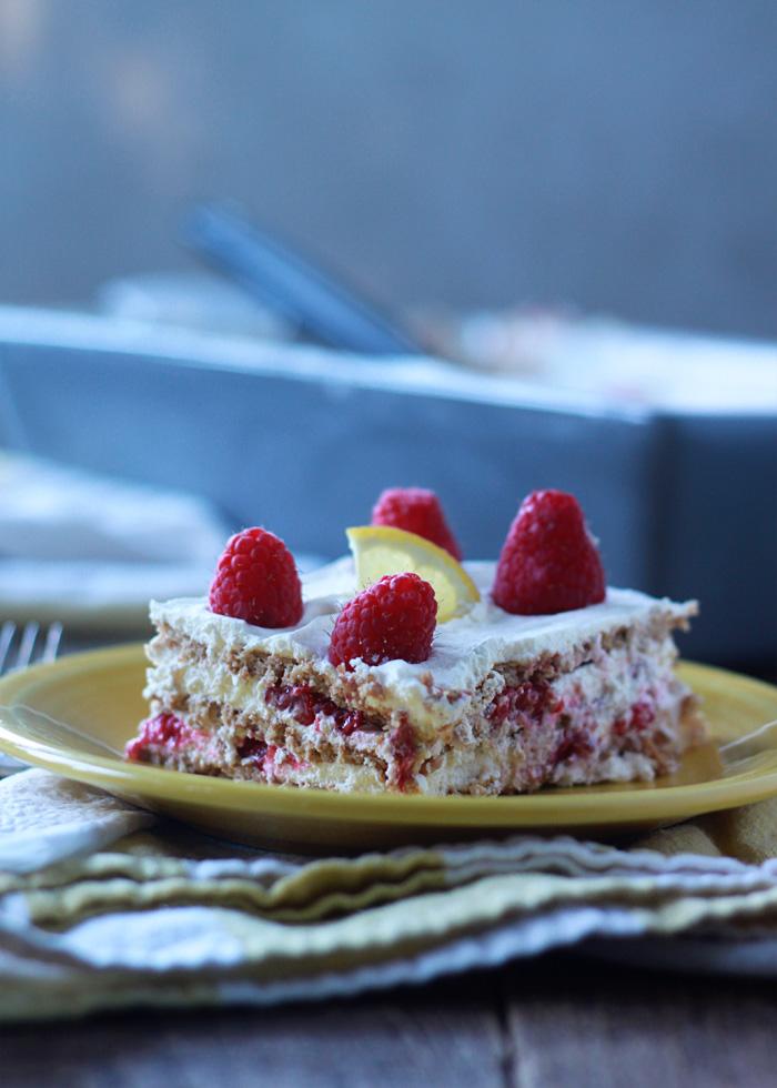 Raspberry Lemon Icebox Cake