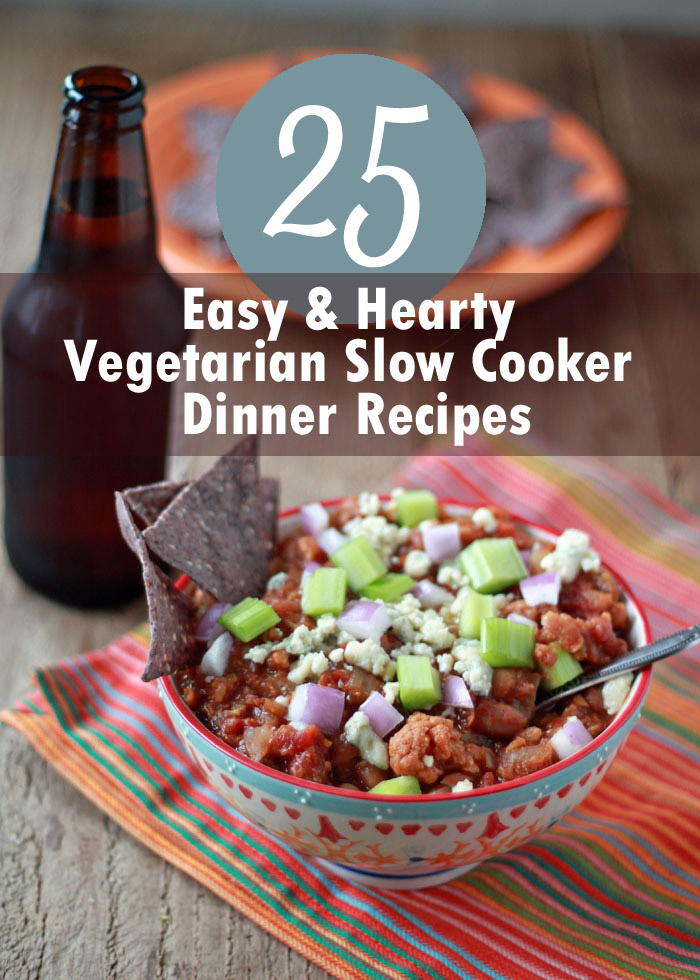 slow cooker vegetarian recipes 25 easy amp hearty vegetarian cooker dinner recipes 11297