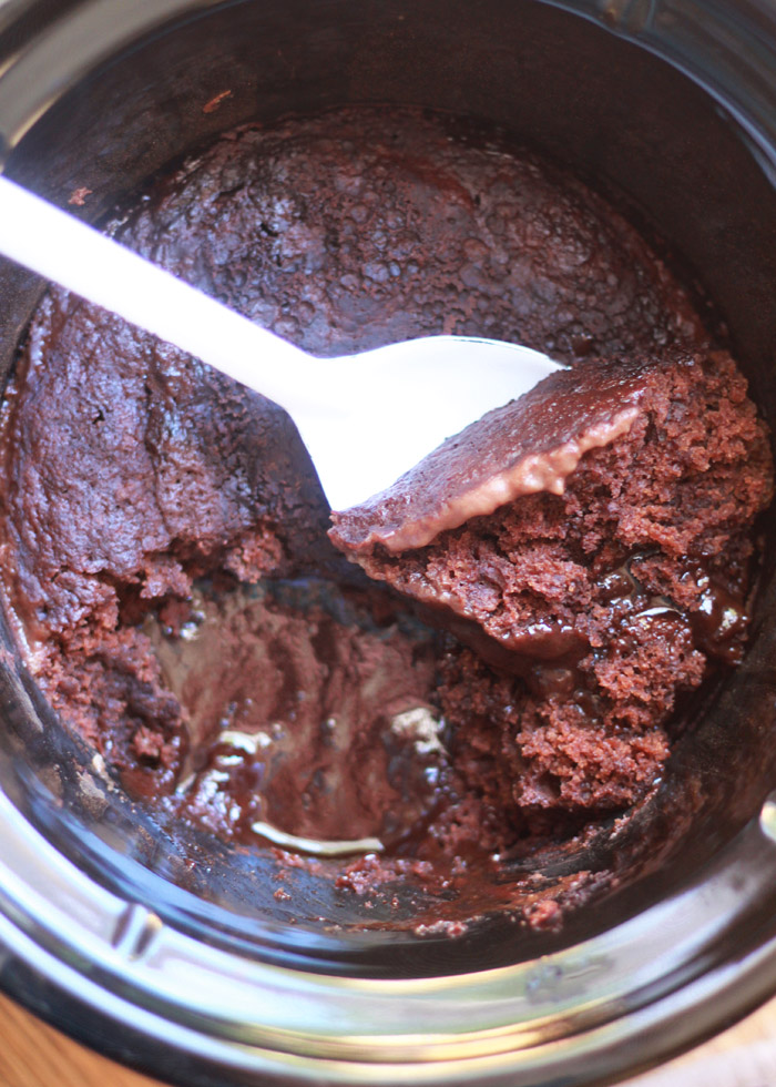 Slow Cooker Hot Fudge Pudding Cake