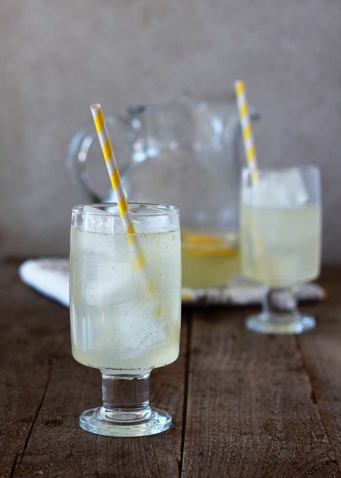 Vanilla Bean Lemonade Recipe - With tart, fresh lemon juice and creamy notes of vanilla, this lemonade reminds me of a super-refreshing creamsicle.