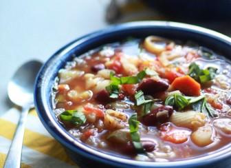 Crock Pot Vegetarian Pasta e Fagioli (with Optional Ground Beef)