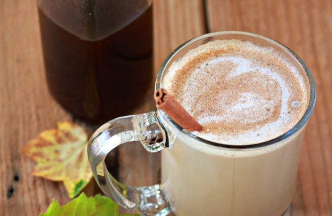 healthier homemade pumpkin spice latte coffee syrup kitchen treaty