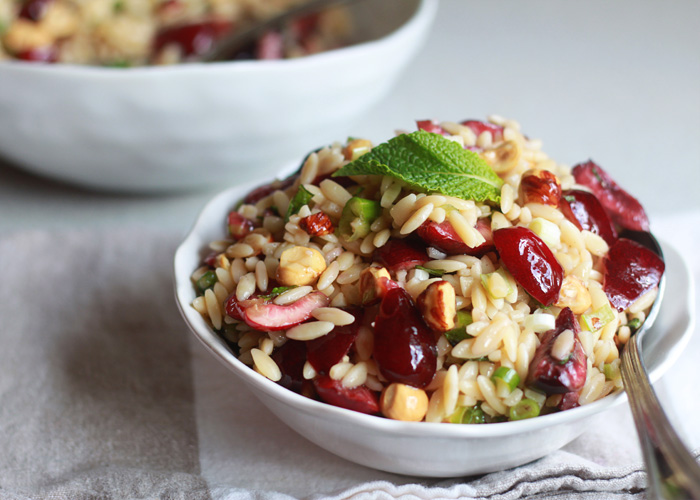 5 Perfectly Portable Lunchbox Salads   Asian Noodle Salad Jars from Foxes Love Lemons   Cherry Hazelnut Orzo Salad