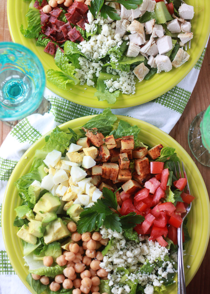 Quick Easy Dinner Cobb Salads Kitchen Treaty