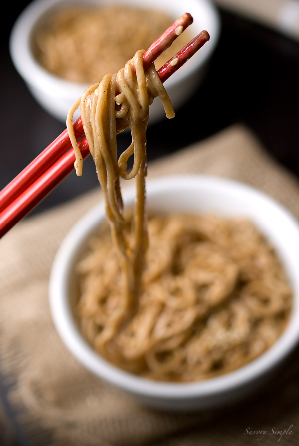5 Dinners in 10 Minutes or Less | Cold Sesame Soba Noodles from Savory Simple