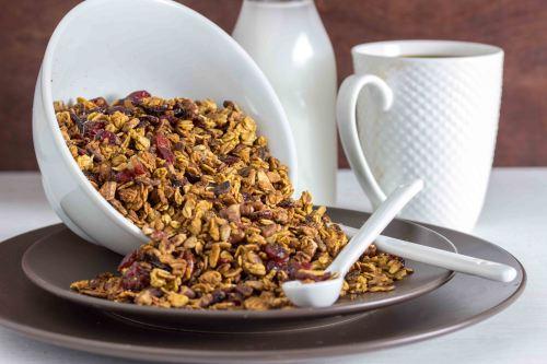 5 Make-Ahead Pumpkin Breakfast Recipes | Maple Pumpkin Granola from Overtime Cook