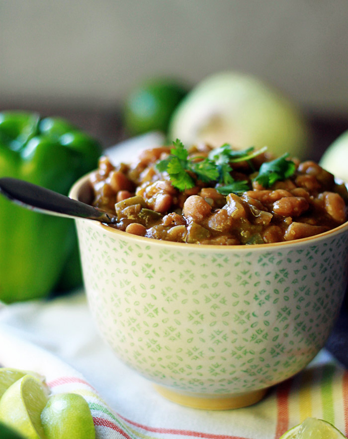 Slow Cooker Vegetarian Pumpkin White Chili - Where Slow Food and Whole Food Meet eCookbook