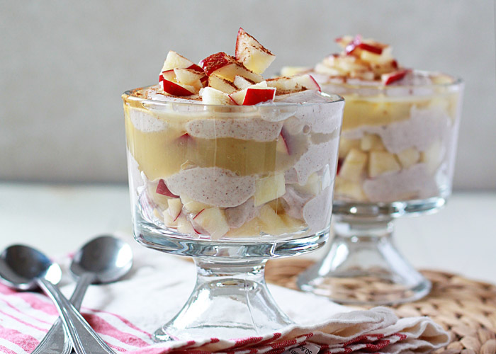 Apple Cinnamon Greek Yogurt Breakfast Parfaits