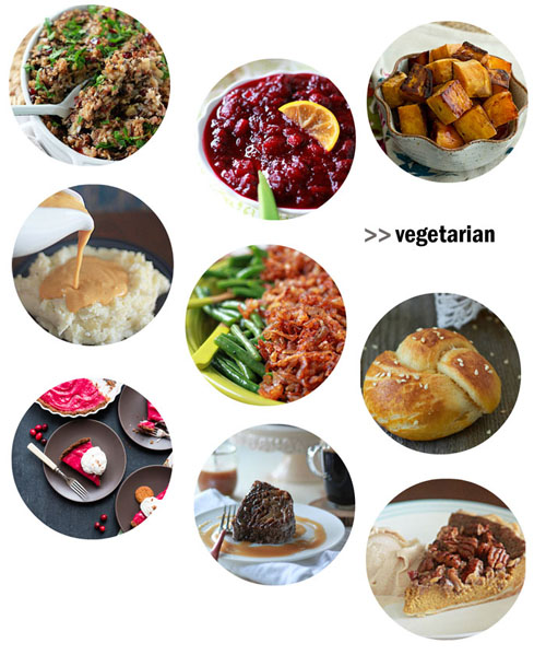 A Thanksgiving Feast for (Nearly) Every Diet - one meal for carnivores, vegetarians, vegans, and gluten-free guests