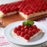 Fresh Raspberry Cream Cheese Puff Pastry Tart