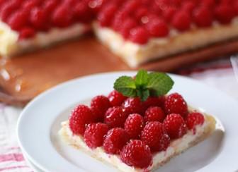 Fresh Raspberry Cream Cheese Puff Pastry Tart