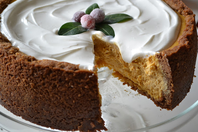 5 Thanksgiving Recipes You Can Make Right Now - Pumpkin Cheesecake