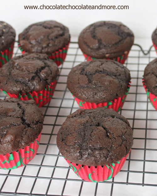 7 Marvelous Muffin Recipes for Christmas Morning - Chocolate Chocolate Chip Muffins from Chocolate, Chocolate, and More