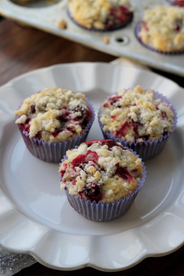 7 Marvelous Muffin Recipes for Christmas Morning - Meyer Lemon Cranberry Poppy Seed Muffins