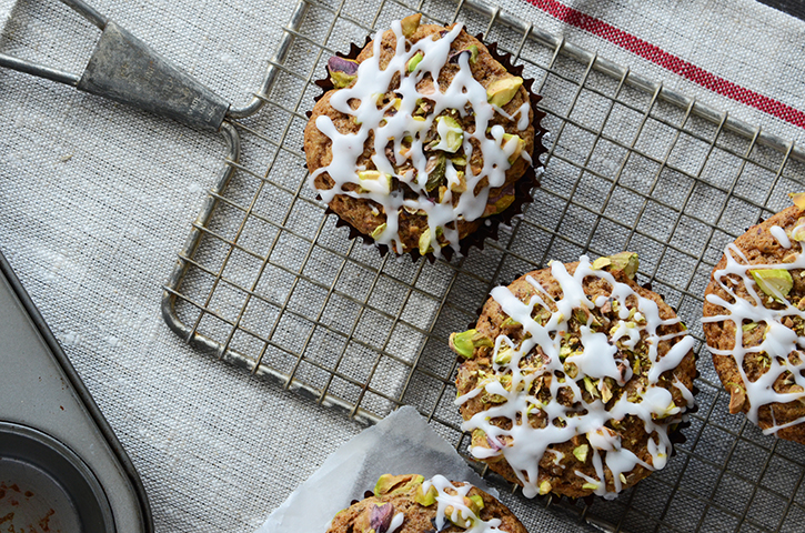 5 Marvelous Muffins for Christmas Morning - Pistachio Chai Muffins
