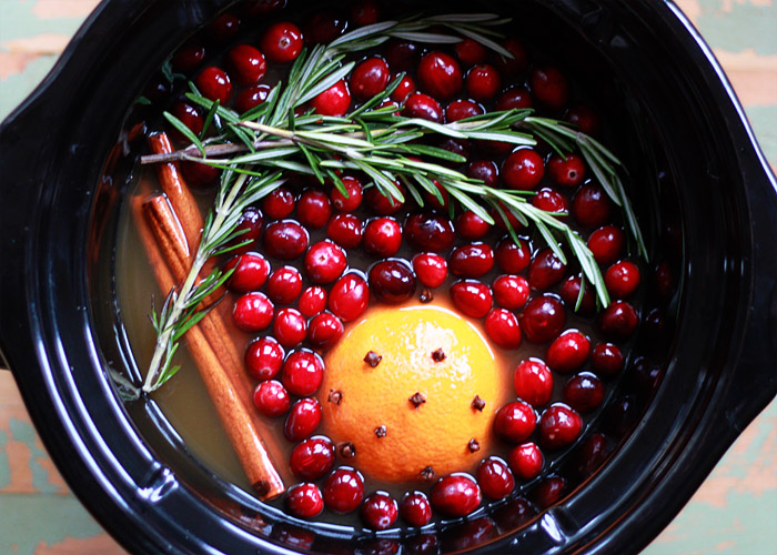 Slow Cooker Rosemary-Cranberry Mulled Cider