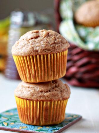 Honey-Sweetened Spiced Banana Muffins recipe