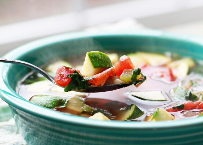 25-Minute Comforting Veggie Soup recipe