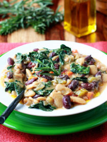 Hearty Tuscan Bean Stew recipe - vegan, gluten-free, delicious!