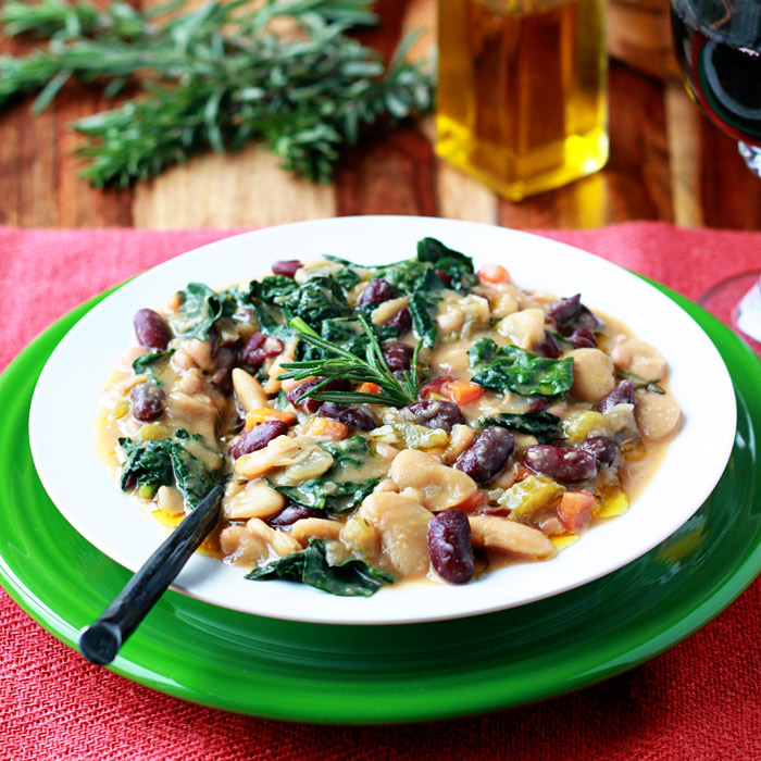 Hearty Tuscan Bean Stew recipe - vegan, gluten-free, delicious!