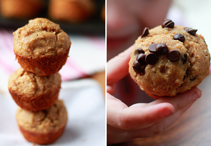Peanut Butter Quinoa Mini Muffins recipe - these moist little gems are dairy-free and full of protein. Add chocolate chips for an extra little treat!