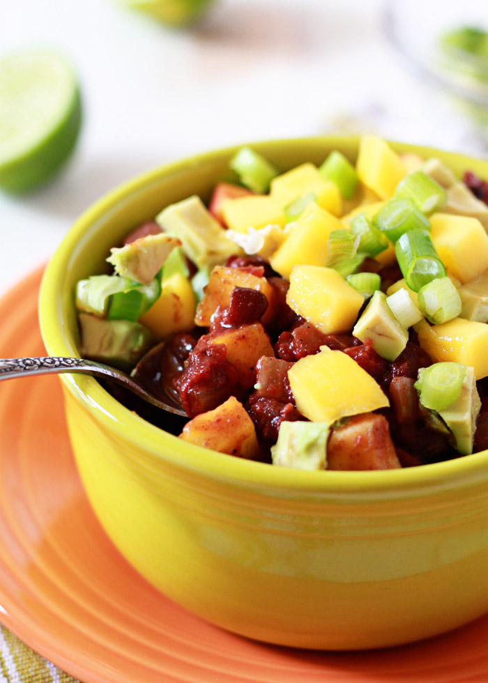 Slow Cooker Black Bean & Mango Caribbean Chili recipe