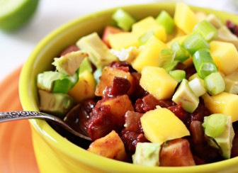 Slow Cooker Black Bean & Mango Caribbean Chili recipe