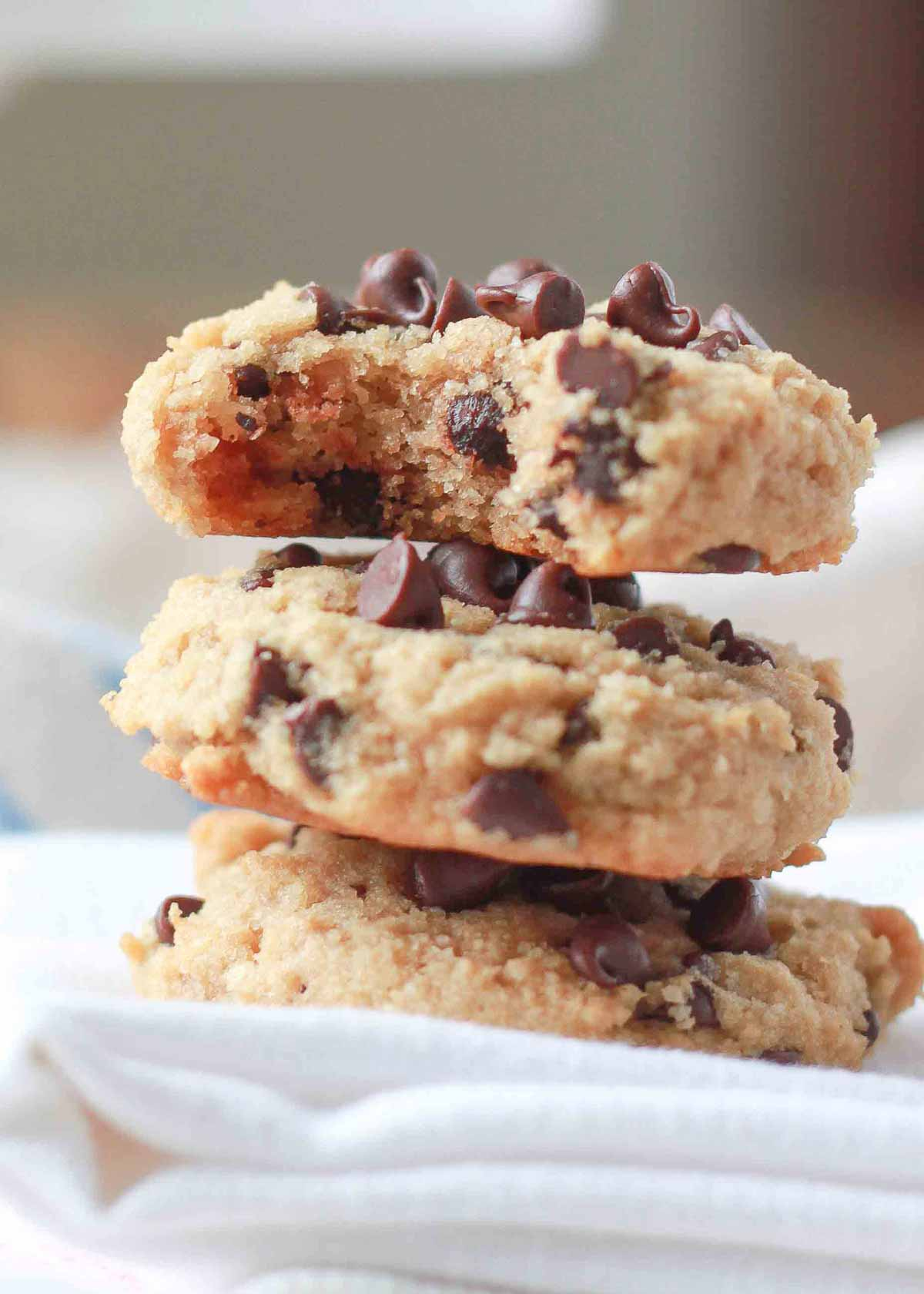 Soft Baked Almond Flour Chocolate Chip Cookies Kitchen Treaty Recipes