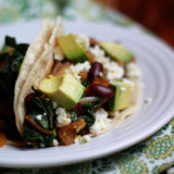 Beans and Greens Tacos recipe - Made with kidney beans and rainbow chard, these hearty tacos are pretty much the perfect weeknight meal.