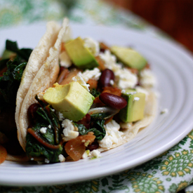 Beans and Greens Taco recipe - Fast, easy, healthy, flexible, and delicious - these tacos are pretty much the perfect weeknight meal.