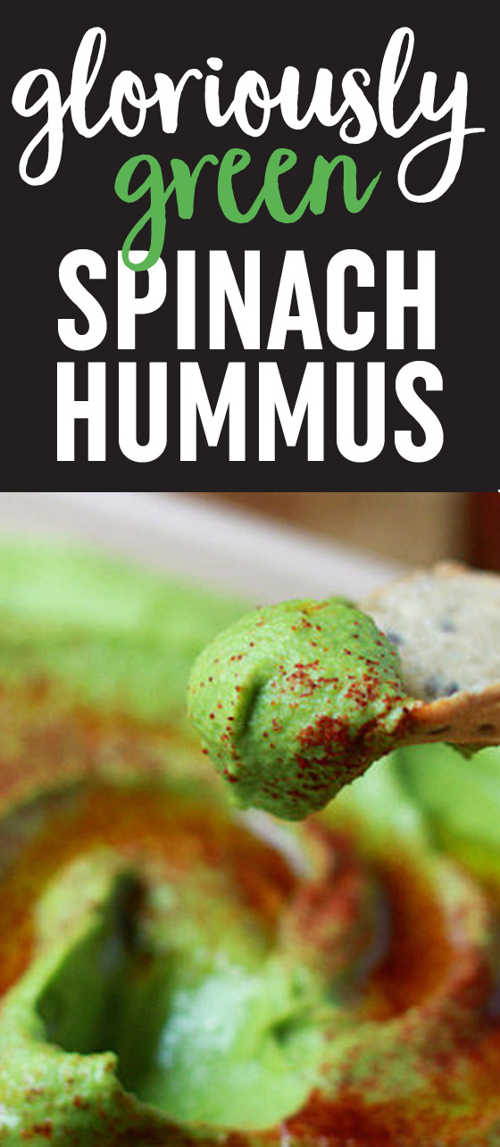 This Gloriously Green Spinach Hummus recipe tastes like classic hummus, but it boasts a boost of nutrients - and a pretty color too.