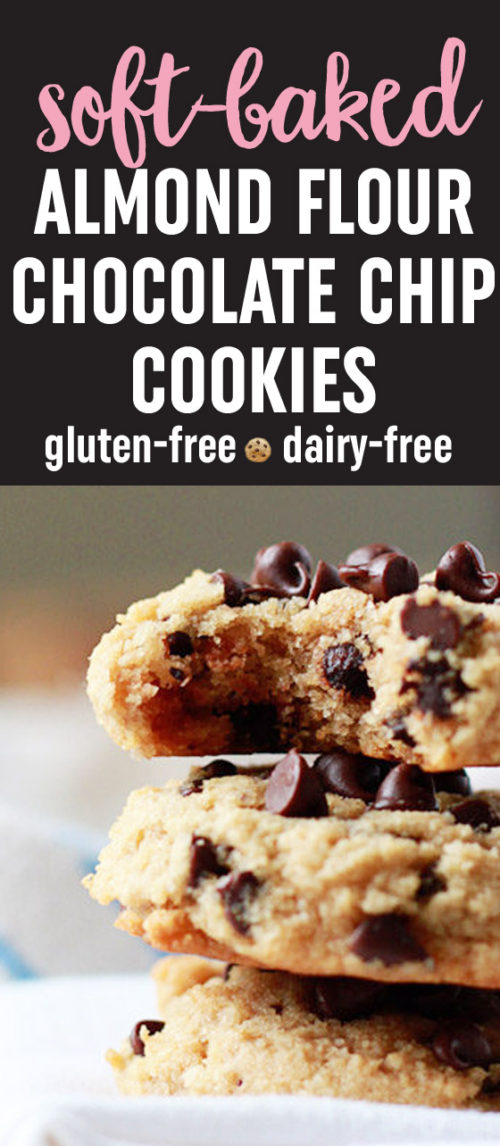 Soft-Baked Almond Flour Chocolate Chip Cookies recipe - These bendy melt-in-your-mouth gems are an incredible gluten-free, dairy-free, low-carb alternative to traditional chocolate chip cookies.