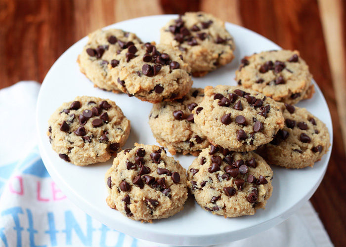 Soft-Baked Almond Flour Chocolate Chip Cookies recipe - #3 of Kitchen Treaty's Top 10 Recipes of 2015