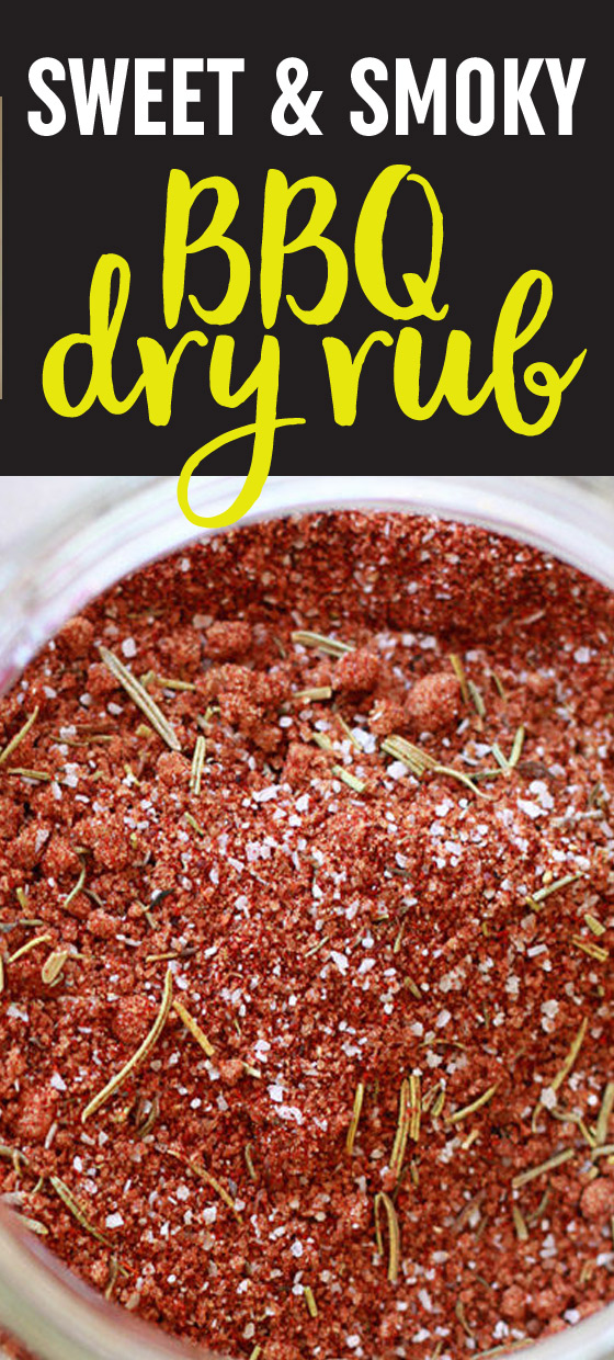 Sweet and Smoky BBQ Dry Rub Mix - Use this intensely flavored dry spice rub on everything. Your grilled veggies, chicken, and tofu will never be the same!