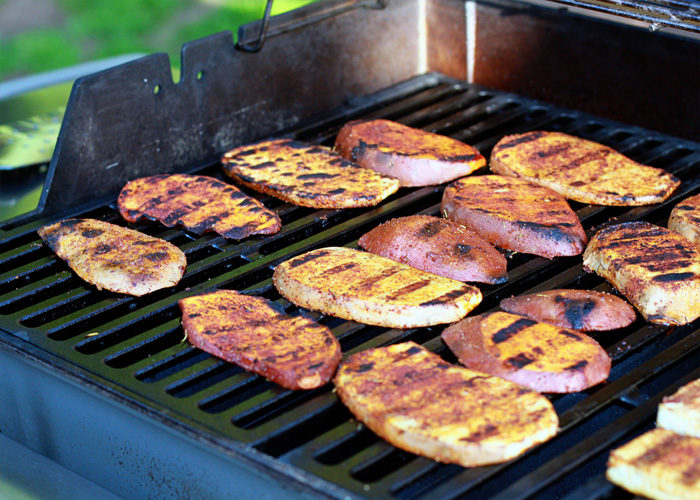 How long do i cook sweet potatoes on the grill