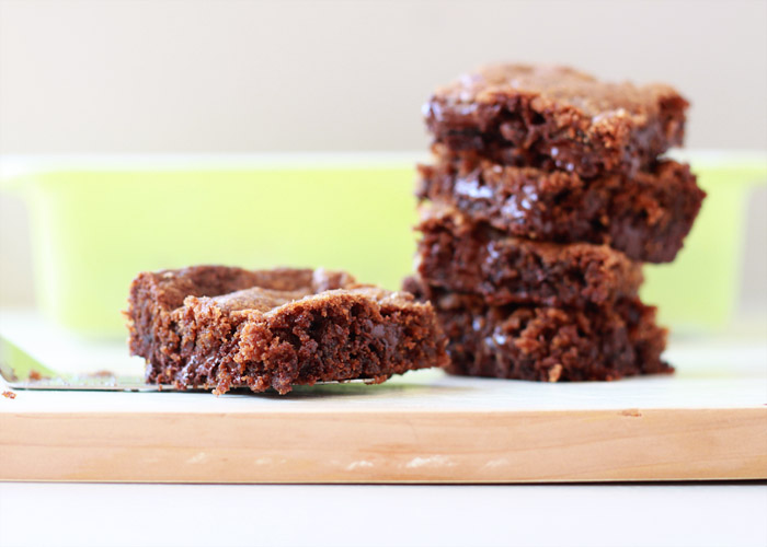 Coconut Oil Chocolate Chunk Blondies - No butter (or other dairy) in these gooey one-bowl blondies - coconut oil works perfectly in its place. But no coconut taste - just sweet caramelized bliss.
