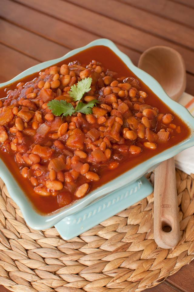 Slow Cooker Mango BBQ Baked Beans - Tangy, saucy, and savory-sweet ...