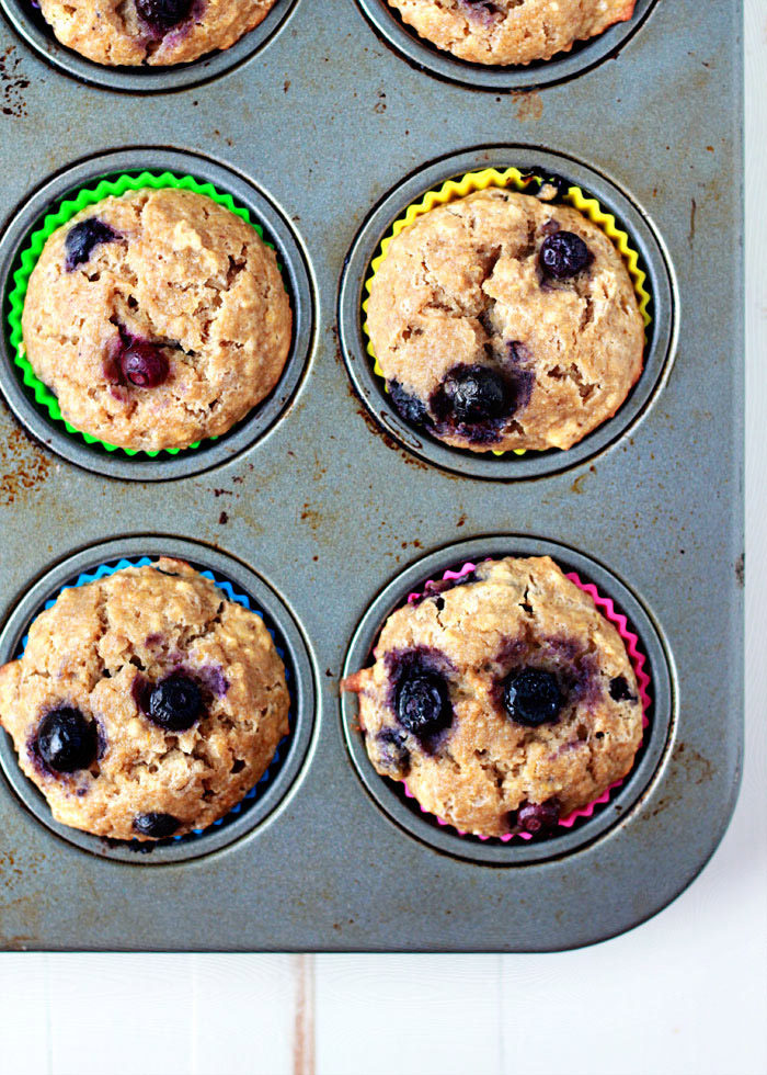 A few simple swaps - and a couple of add-ins - make these moist and healthy blueberry muffins much less decadent than their cupcake-y counterparts. But they still taste incredible!