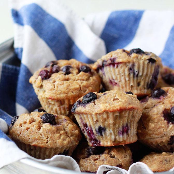 Healthy Blueberry Muffins Recipe - Kitchen Treaty
