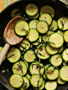 7-Minute Sauteed Zucchini with Garlic & Basil