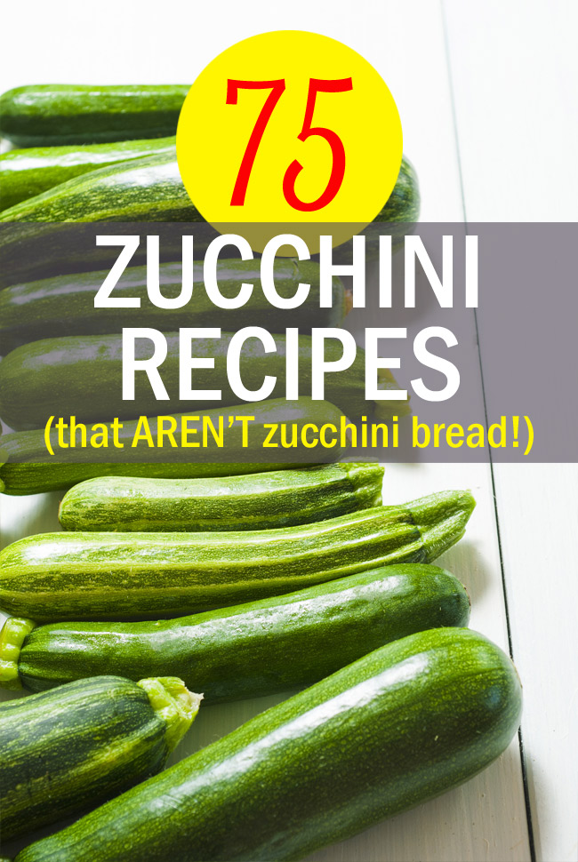 75 Zucchini Recipes (That Aren't Zucchini Bread!) Go beyond zucchini bread with these creative zucchini recipes, both savory & sweet. From @kitchentreaty.