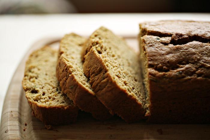 Olive Oil Zucchini Bread with Lemon & Cardamom