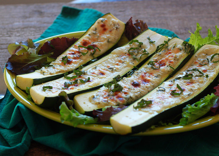 White Focaccia Pizza With Zucchini Recipe — Dishmaps
