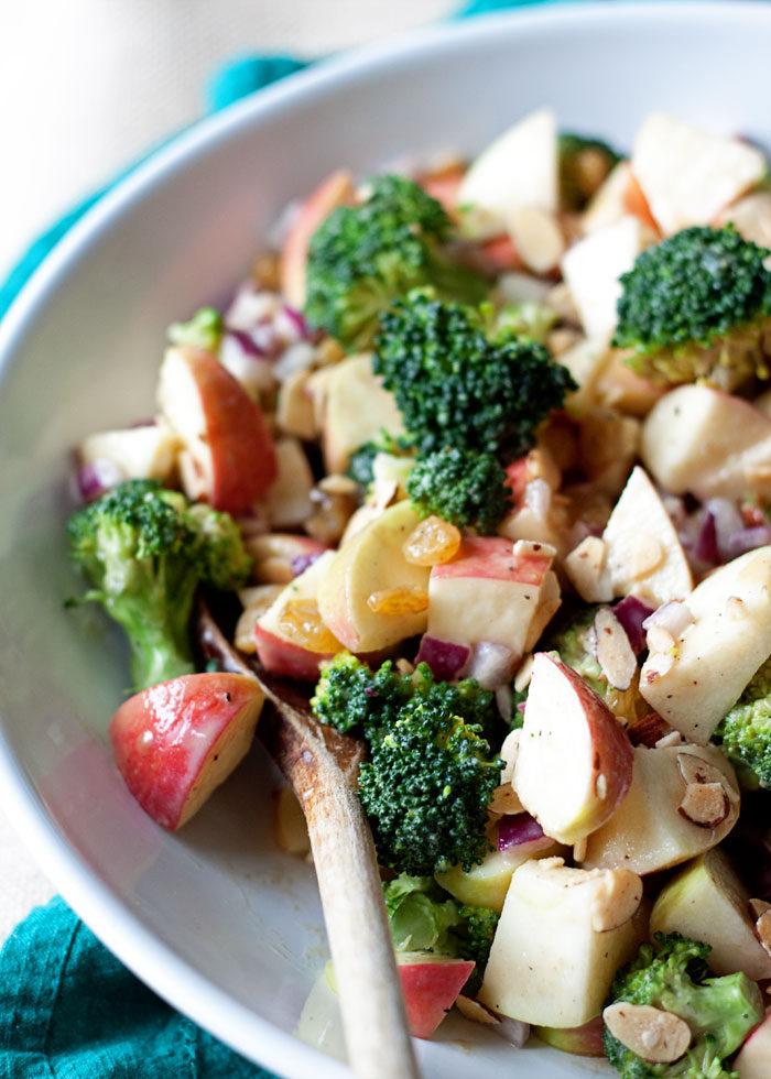 Broccoli Apple Salad with Creamy Lemon-Tahini Dressing - A broccoli ...