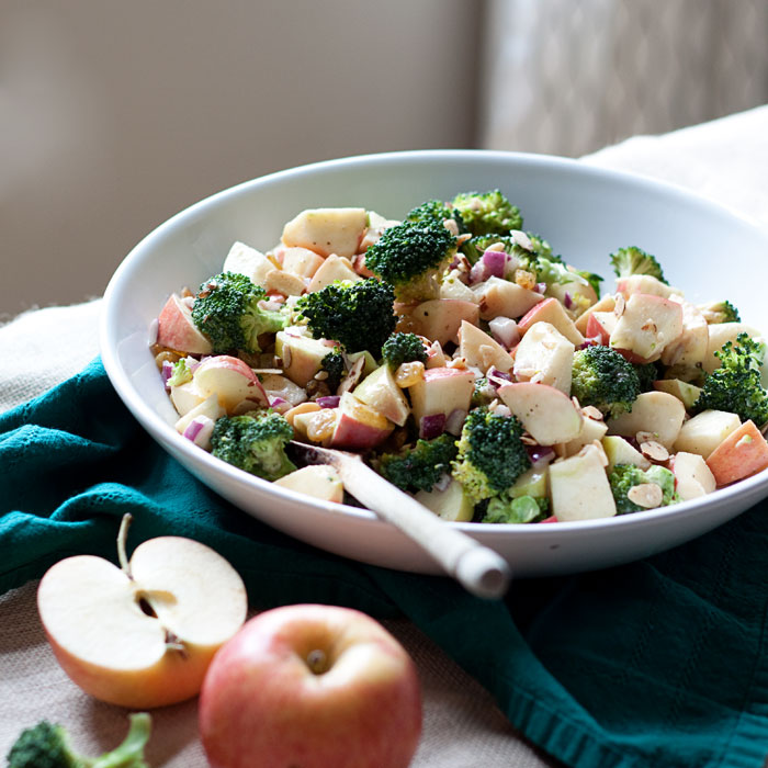 Broccoli Apple Salad with Creamy Lemon-Tahini Dressing - Kitchen ...