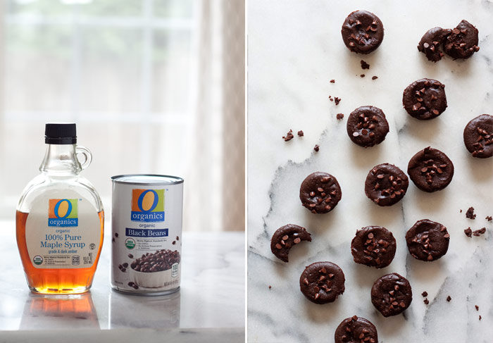 Fudgy Black Bean Brownie Bites recipe - Rich, decadent, chocolaty ... these almost truffle-like brownie bites have a secret ingredient they'll never guess. Dairy-free and gluten-free too!