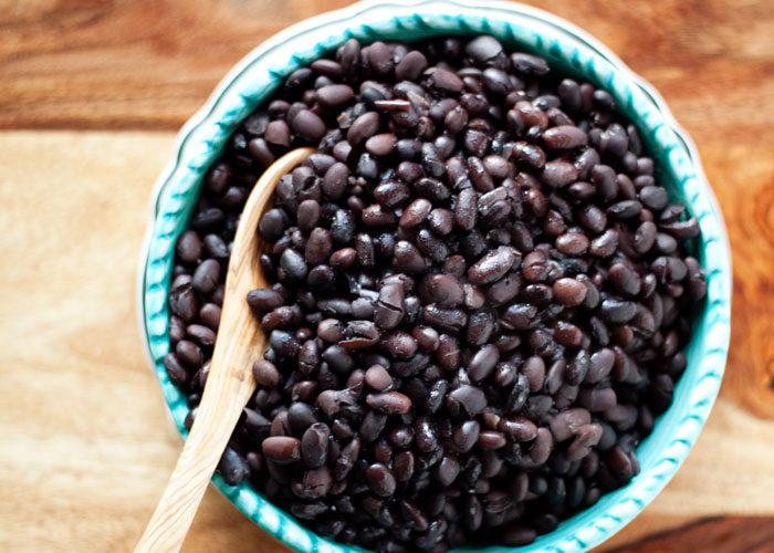 Bowl of Supremely Delicious Black Beans from Scratch